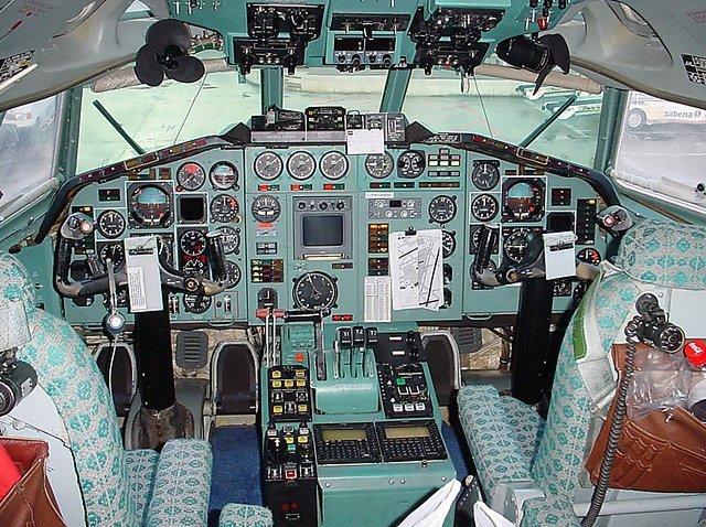 Кабина Ту-154